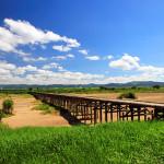 一文橋と上津屋橋 ~日本初の有料橋と日本最長の流れ橋